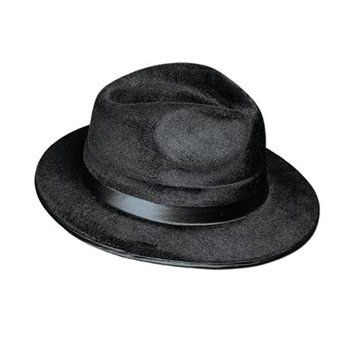 Felt Fedora Black Velvet - Bartz s Party Stores 862d743e071