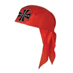 Red Chopper Scarf Hat
