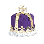 ROYAL KING'S CROWN - (PURPLE) - VELVET TEXTURED VELOUR