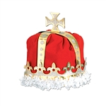 ROYAL KING'S CROWN - (RED) - VELVET-TEXTURED VELOUR
