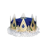 ROYAL QUEEN'S CROWN - (BLUE) - VELVET TEXTURED VELOUR
