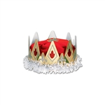ROYAL QUEEN'S CROWN - (RED) - VELVET TEXTURED VELOUR