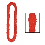 LARGE POLY RED LEIS - 2 1/4in