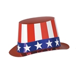 Red, White and Blue Patriotic Party Hi-Hat