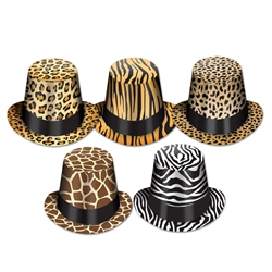Animal Pattern Top Hats