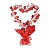 Heart Heart Gleam'n Shape Centerpiece - Red