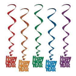 "Assorted ""Happy New Year"" Party Swirls"