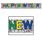 METALLIC HAPPY NEW YEAR BANNER