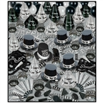 Happy New Year Black and Silver Party Kit