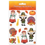 Pilgrim And Turkey Stickers-Plus-Pack