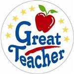 A GREAT TEACHER SATIN BUTTON