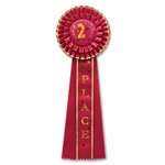 2nd Place Deluxe Party Rosettes