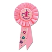 IM 1 YEAR OLD TODAY PINK ROSETTE RIBBON