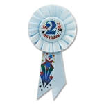 IM 2 YEARS OLD TODAY BLUE ROSETTE RIBBON
