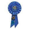 IM 4 YEARS OLD TODAY BLUE ROSETTE AWARD RIBBON