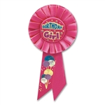 BDAY GIRL ROSETTE AWARD RIBBON