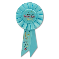 AGED TO PERFECTION ROSETTE AWARD RIBBON