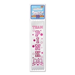 Award Ribbon Team Pink 10 Pack