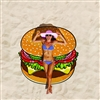 Burger Gigantic Beach Blanket