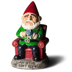 An Offer He Can't Refuse Garden Gnome