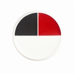 Character Wheel - Red  White  And Black