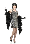 Silver Crystal Teardrop Flapper XL Adult