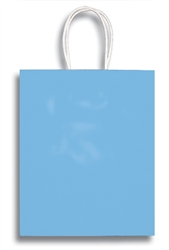 BABY BLUE MEDIUM CLAY COATED BAG
