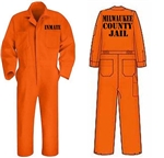 Milwaukee Country Jail Inmate Costume Large Adult