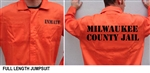 Milwaukee Country Jail Inmate Costume XL Adult