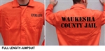 Waukesha County Jail Inmate Costume XL Adult