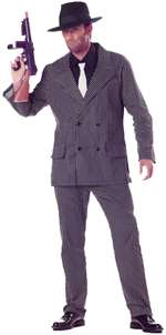 20's GANGSTER MENS LARGE ADULT COSTUME
