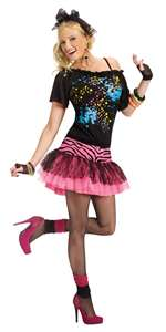 80'S POP PARTY WOMEN'S COSTUME - SMALL/MEDIUM