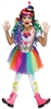 Crazy Color Clown Large Kids Costume