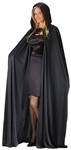 BLACK HOODED CAPE - 74