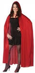 Red Hooded Cape - 68 inches