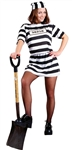 CONVICT WOMAN ADULT COSTUME