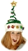 Springy Christmas Tree Hat