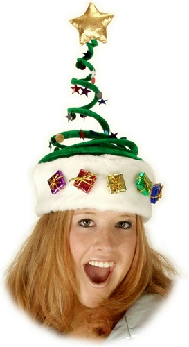 5b1ce00ff9098 Springy Christmas Tree Hat - Bartz s Party Stores