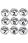 Thing 1-9 Printed Patches Set