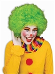 CLOWN AFRO WIG - GREEN