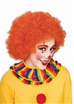 Clown Afro Wig - Orange