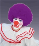 Clown Afro Wig - Purple