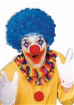 Clown Afro Wig - Blue