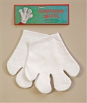 WHITE FELT CARTOON MITTS