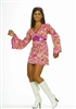 Flower Power Mod Dress Adult Costume M/L