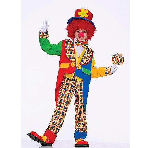 Clown Costume Big Bright Coloured Buttons Massive Buttons Coat