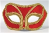 Red Venetian Mask w/ Gold Outline