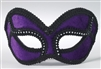 Purple Venetian Mask w/ Black Outline