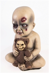Baby with Teddy Bear Blow Molded Prop