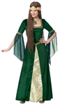 Renaissance Lady Green Large Adult Costume